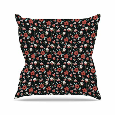 Floral Field Mayacoa Studio Throw Pillow Size: 16 H x 16 W x 4 D