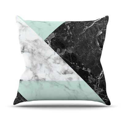 Geo Marble Throw Pillow Size: 18 H x 18 W x 4 D, Color: Mint