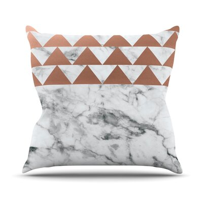 Marble & Metal Throw Pillow Size: 18 H x 18 W x 4 D