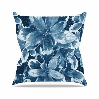 Leaves Julia Grifol Throw Pillow Size: 18 H x 18 W x 4 D, Color: Blue