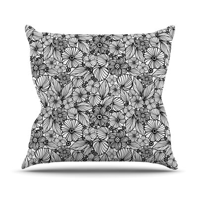 Candy Flowers Julia Grifol Throw Pillow Size: 26 H x 26 W x 4 D