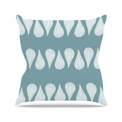 Altered Raindrops Jennifer Rizzo Throw Pillow Size: 16 H x 16 W x 4 D
