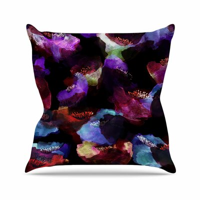 Watercolor Poppy Jessica Wilde Abstract Throw Pillow Size: 26 H x 26 W x 4 D