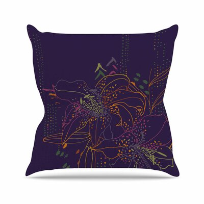 Hibiscus Karina Edde Abstract Throw Pillow Size: 20 H x 20 W x 4 D