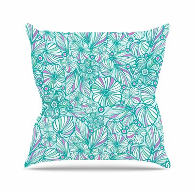 My Flowers Julia Grifol Throw Pillow Size: 18 H x 18 W x 4 D