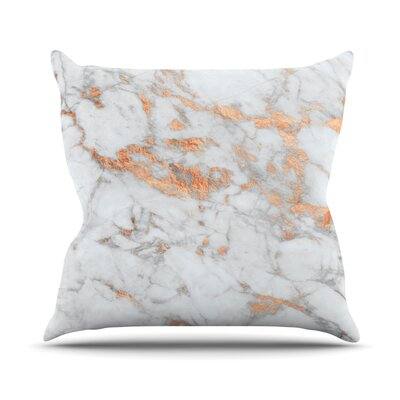 Rose Flake Throw Pillow Size: 16 H x 16 W x 4 D