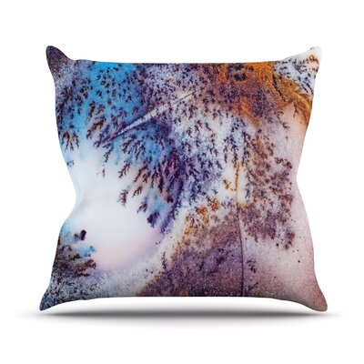 Snow Agate Throw Pillow Size: 26 H x 26 W x 4 D