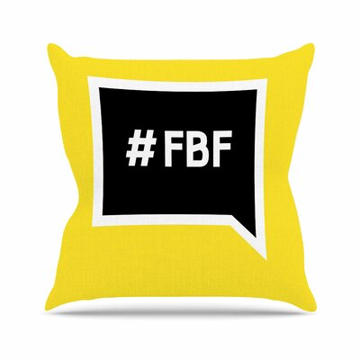 Flash Back Friday Throw Pillow Size: 26 H x 26 W x 4 D