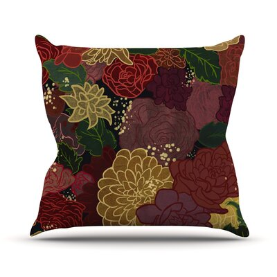 Flowers Jaidyn Erickson Throw Pillow Size: 18