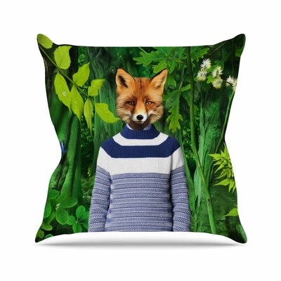 Into the Leaves N7 Natt Throw Pillow Size: 16 H x 16 W x 4 D