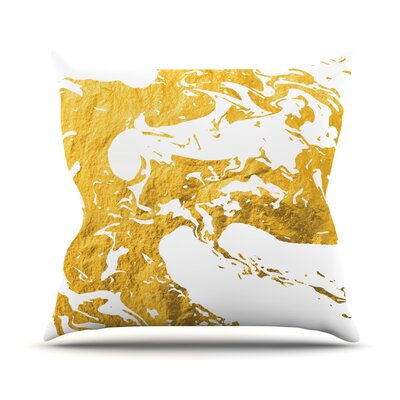 Ink on Water Throw Pillow Size: 18 H x 18 W x 4 D