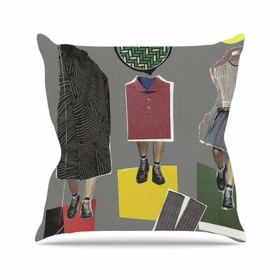 Fashion Jina Ninjjaga Pop Art Throw Pillow Size: 18 H x 18 W x 4 D