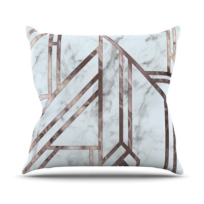 Marble Mosaic Throw Pillow Size: 16 H x 16 W x 4 D, Color: Brown
