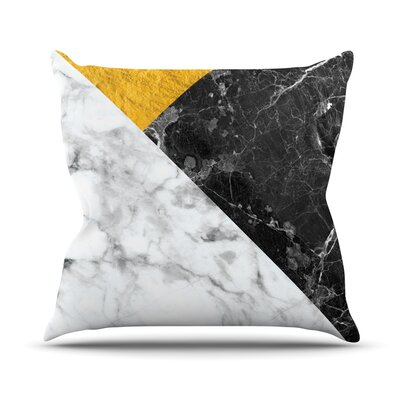 Geo Marble Throw Pillow Size: 16 H x 16 W x 4 D