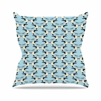 Birds Kissing Mayacoa Studio Throw Pillow Size: 18 H x 18 W x 4 D