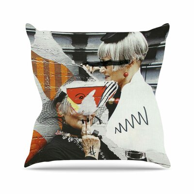 Style Jina Ninjjaga Pop Art Throw Pillow Size: 26 H x 26 W x 4 D