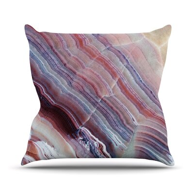 Sunrise Agate Throw Pillow Size: 16 H x 16 W x 4 D