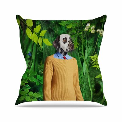 Into the Leaves N1 Natt Dog Throw Pillow Size: 26 H x 26 W x 4 D