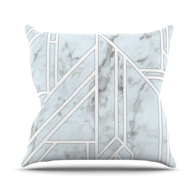 Marble Mosaic Throw Pillow Size: 18 H x 18 W x 4 D, Color: White