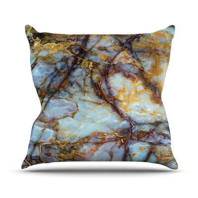 Opalized Marble Throw Pillow Size: 16 H x 16 W x 4 D
