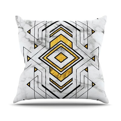 Geo Marble Graphic Throw Pillow Size: 18 H x 18 W x 4 D