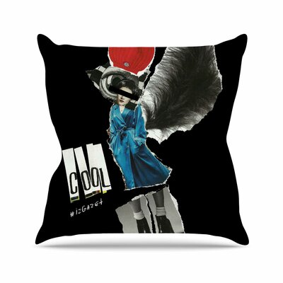 Cool Jina Ninjjaga Throw Pillow Size: 16 H x 16 W x 4 D