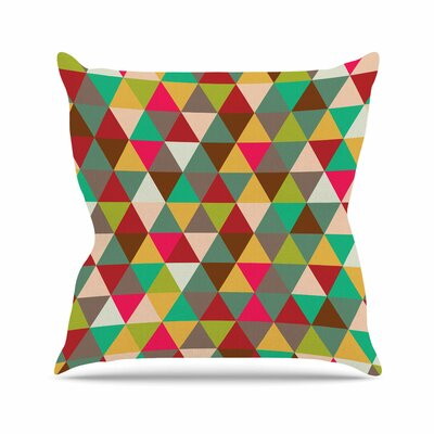 Autumn Triangle Spectrum Throw Pillow Size: 16 H x 16 W x 4 D