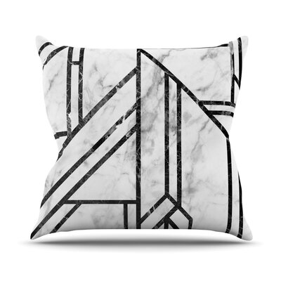 Marble Mosaic Throw Pillow Size: 26 H x 26 W x 4 D, Color: Black