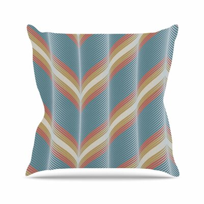 Wavy Chevron Karina Edde Throw Pillow Size: 16 H x 16 W x 4 D