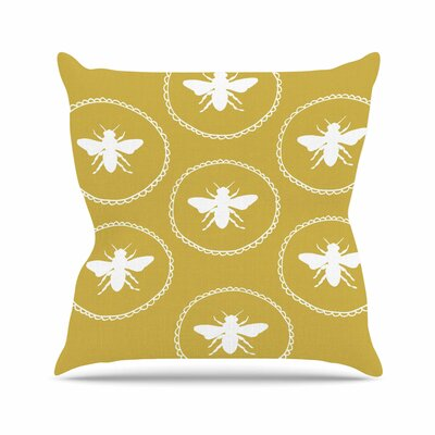 Busy as a Bee Jennifer Rizzo Throw Pillow Size: 16 H x 16 W x 4 D