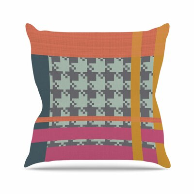 Houndstooth Block Pellerina Design Throw Pillow Size: 18