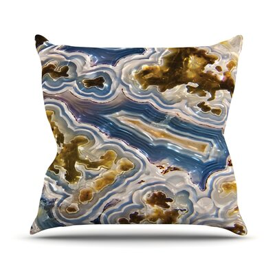 Agate Throw Pillow Size: 18 H x 18 W x 4 D