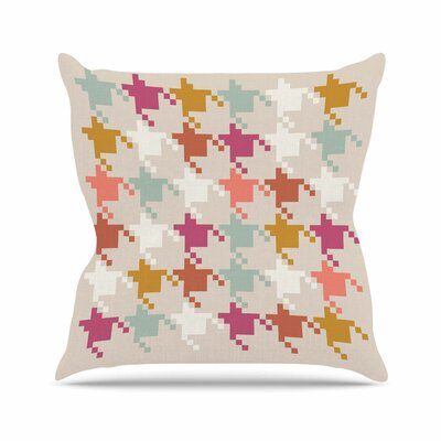 Houndstooth Panel Pellerina Design Throw Pillow Size: 26