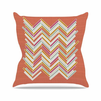 Herringbone Weave Bold Pellerina Design Throw Pillow Size: 18