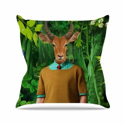 Into the Leaves N4 Natt Throw Pillow Size: 18 H x 18 W x 4 D