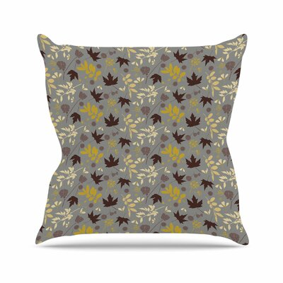 Fall Leaves Mayacoa Studio Throw Pillow Size: 26 H x 26 W x 4 D