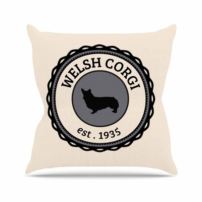 Welsh Corgi Dog Throw Pillow Size: 18 H x 18 W x 4 D