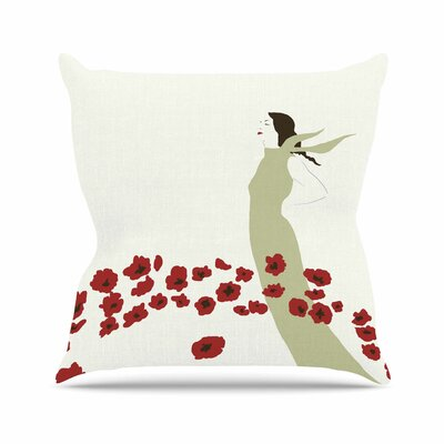 Poppy Field Mayacoa Studio Throw Pillow Size: 18 H x 18 W x 4 D