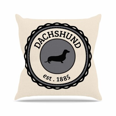 Dachshund Throw Pillow Size: 16 H x 16 W x 4 D