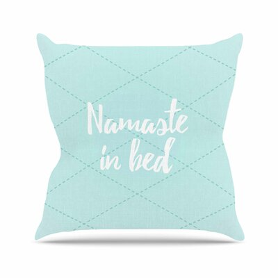 Namaste Color: Teal / White, Size: 18 H x 18 W x 4 D