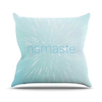Namaste Throw Pillow Size: 26 H x 26 W x 4 D