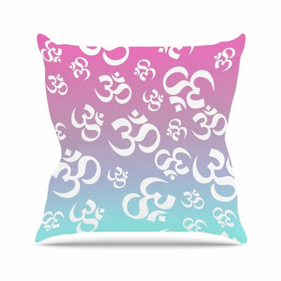 Ohm My Pastels Throw Pillow Size: 20 H x 20 W x 4 D