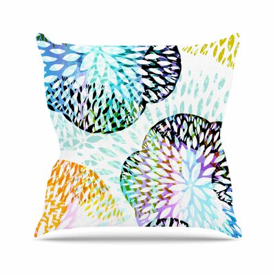 Tropical Flora Jessica Wilde Pastel Abstract Throw Pillow Size: 26 H x 26 W x 4 D