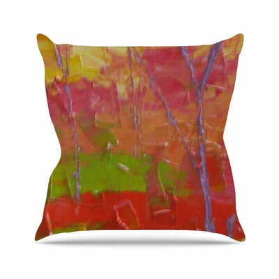 Garden Throw Pillow Size: 26 H x 26 W x 4 D