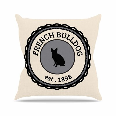 French Bulldog Throw Pillow Size: 16 H x 16 W x 4 D