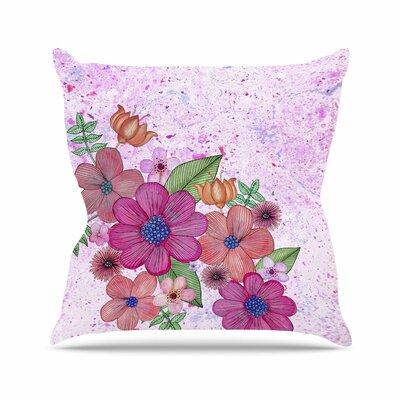 My Garden Floral Julia Grifol Magenta Throw Pillow Size: 20 H x 20 W x 4 D