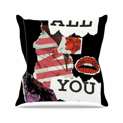Poster Jina Ninjjaga Throw Pillow Size: 16 H x 16 W x 4 D