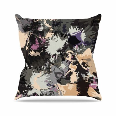 Punk Floral Jessica Wilde Throw Pillow Size: 16 H x 16 W x 4 D