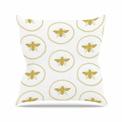Busy as a Bee Jennifer Rizzo Throw Pillow Size: 20 H x 20 W x 4 D