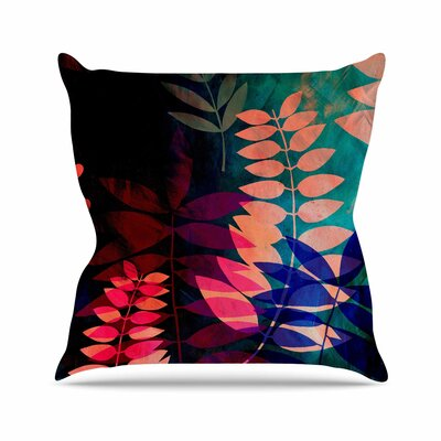 Dark Jungle Throw Pillow Size: 16 H x 16 W x 4 D